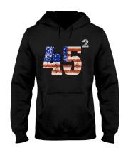 45 Squared Trump 2020 Second Term USA Vintage Hooded Sweatshirt thumbnail
