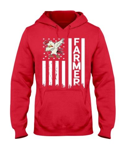 Farmer USA Flag Farming Apparel Gift Tshirt