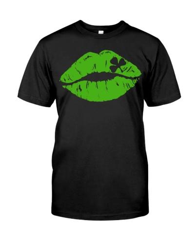 Kiss Me I'm Irish T Shirt Lips Shirt St Patricks D
