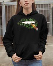 Love cigar Cannabis Hooded Sweatshirt apparel-hooded-sweatshirt-lifestyle-07