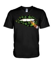 Love cigar Cannabis V-Neck T-Shirt thumbnail