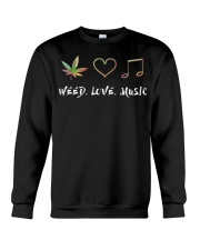 Weed Love Music Crewneck Sweatshirt thumbnail