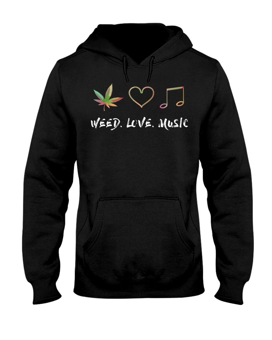Weed Love Music Hooded Sweatshirt