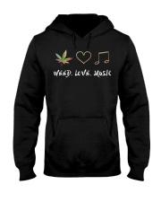 Weed Love Music Hooded Sweatshirt front