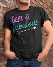 10 and Fabulous 10th Birthday Shirt for Girl Party Classic T-Shirt apparel-classic-tshirt-lifestyle-26
