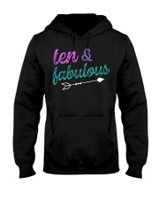 10 and Fabulous 10th Birthday Shirt for Girl Party Hooded Sweatshirt tile