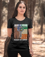 Irish By Blood American By Birth Patriot By Choice Ladies T-Shirt apparel-ladies-t-shirt-lifestyle-05