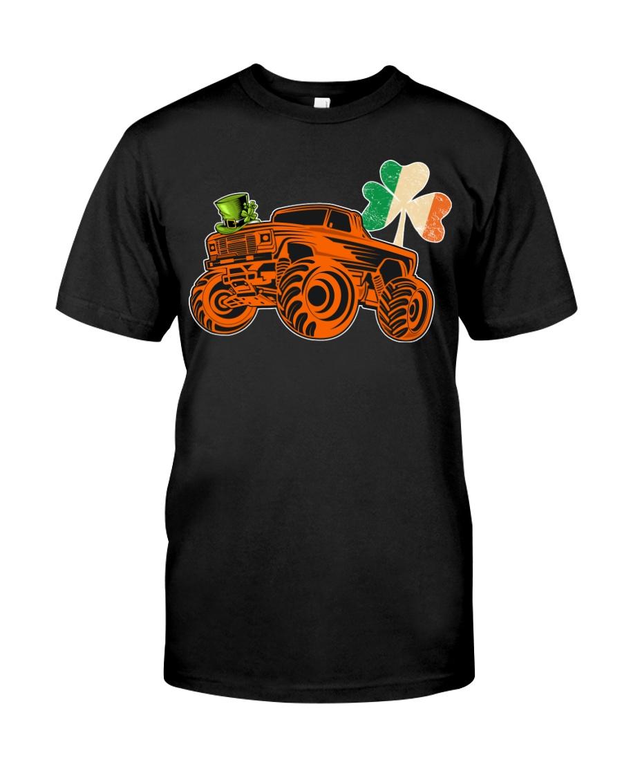 Kids Saint Patricks Day Gift for Monster Truck Lov Classic T-Shirt