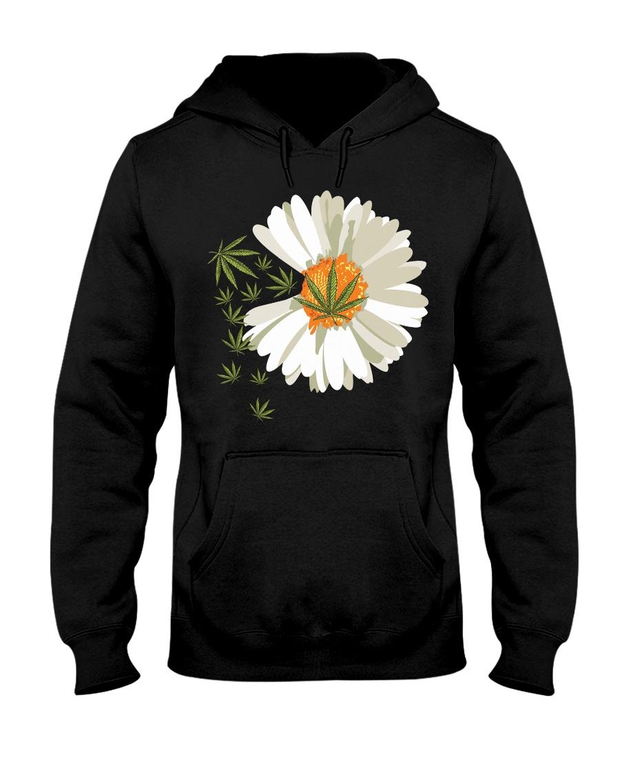 Love daisy Cannabis Hooded Sweatshirt