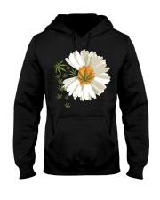 Love daisy Cannabis Hooded Sweatshirt front