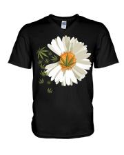 Love daisy Cannabis V-Neck T-Shirt thumbnail