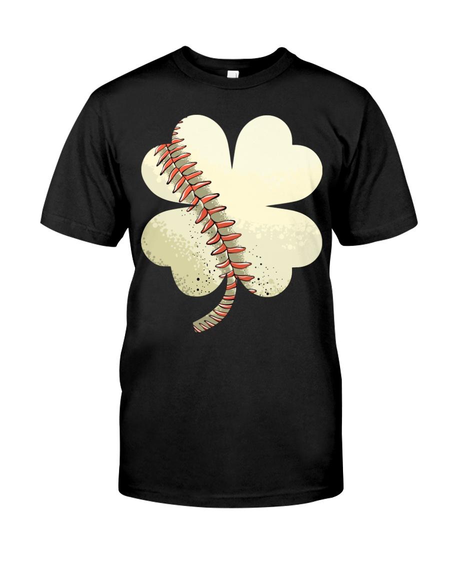 Baseball St Patricks Day Boys Men Catcher Pitcher  Classic T-Shirt