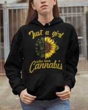 Just A Girl Who Loves Cannabis Hooded Sweatshirt apparel-hooded-sweatshirt-lifestyle-07