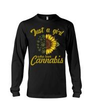 Just A Girl Who Loves Cannabis Long Sleeve Tee thumbnail