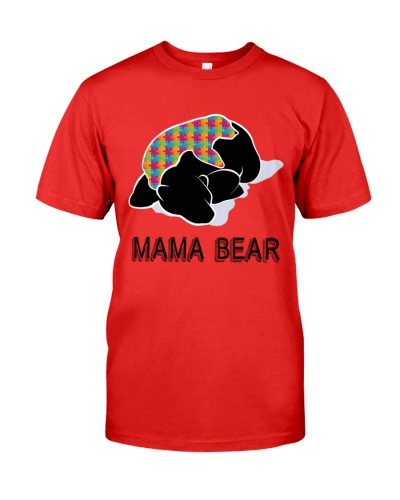 Autism Awareness Mama Bear T-Shirt Autism Mom