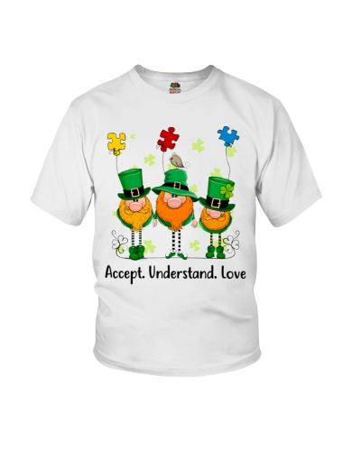 Accept Understand Love Autism Patrick's Day