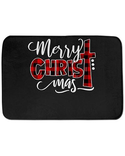Merry Christmas Buffalo Plaid Cross Xmas Gift