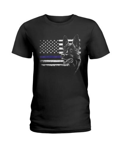 American Flag Patriotic K9 Police Dog