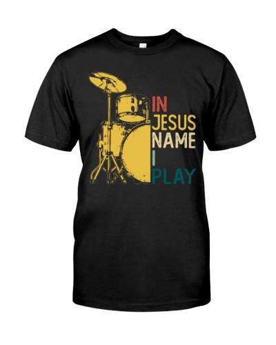 Vintage Drum In Jesus Name I Play Drum
