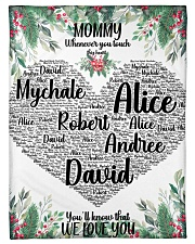 """CUSTOM NAME- MOMMY WHENEVER YOU TOUCH THIS HEART Small Fleece Blanket - 30"""" x 40"""" thumbnail"""