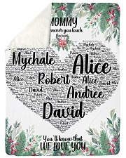 """CUSTOM NAME- MOMMY WHENEVER YOU TOUCH THIS HEART Large Sherpa Fleece Blanket - 60"""" x 80"""" thumbnail"""