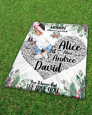 """CUSTOM NAME- MOMMY WHENEVER YOU TOUCH THIS HEART Quilt 40""""x50"""" - Baby aos-quilt-40x50-lifestyle-front-09"""