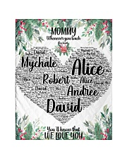 """CUSTOM NAME- MOMMY WHENEVER YOU TOUCH THIS HEART Quilt 40""""x50"""" - Baby front"""