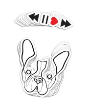 FRENCH BULLDOG 20 Sticker - 10 pack (Vertical) front