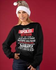 YES I'M A SPOILED BOYFRIEND BUT NOT YOUR Crewneck Sweatshirt apparel-crewneck-sweatshirt-lifestyle-front-27