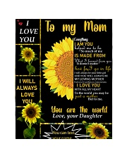 """TO MY MOM CUSTOM NAME Quilt 40""""x50"""" - Baby front"""