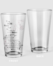 TO MY SON FROM MOM 1 16oz Pint Glass thumbnail