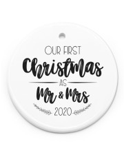 OUR FIRST CHRISTMAS 2020  Circle Ornament (Porcelain) tile