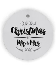 OUR FIRST CHRISTMAS 2020  Circle Ornament (Wood tile