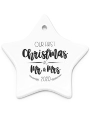 OUR FIRST CHRISTMAS 2020  Star Ornament (Porcelain) tile
