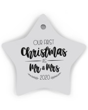 OUR FIRST CHRISTMAS 2020  Star Ornament (Wood) tile