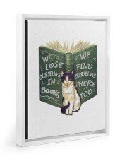 CAT LOVERS STICKER 3 11x14 White Floating Framed Canvas Prints thumbnail