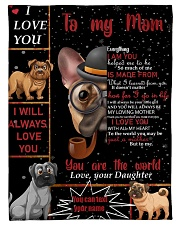 "TO MY MOM CUSTOM NAME - DOG LOVER Small Fleece Blanket - 30"" x 40"" thumbnail"