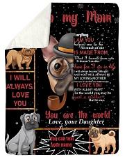 "TO MY MOM CUSTOM NAME - DOG LOVER Large Sherpa Fleece Blanket - 60"" x 80"" thumbnail"