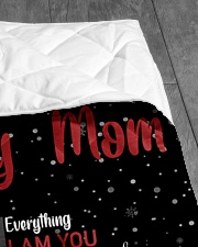 """TO MY MOM CUSTOM NAME - DOG LOVER Quilt 40""""x50"""" - Baby aos-quilt-40x50-lifestyle-closeup-front-07"""