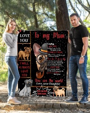 """TO MY MOM CUSTOM NAME - DOG LOVER Quilt 40""""x50"""" - Baby aos-quilt-40x50-lifestyle-front-03"""