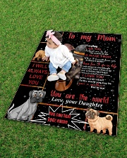 """TO MY MOM CUSTOM NAME - DOG LOVER Quilt 40""""x50"""" - Baby aos-quilt-40x50-lifestyle-front-09"""