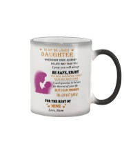 TO BE LOVED DAUGHTER FROM MOM  Color Changing Mug thumbnail
