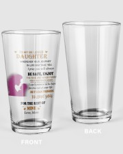 TO BE LOVED DAUGHTER FROM MOM  16oz Pint Glass thumbnail