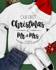 OUR FIRST CHRISTMAS 2020  Crewneck Sweatshirt apparel-crewneck-sweatshirt-lifestyle-front-21
