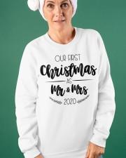 OUR FIRST CHRISTMAS 2020  Crewneck Sweatshirt apparel-crewneck-sweatshirt-lifestyle-front-42