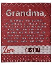 LOVE GRANDMA CUSTOM NAME Fleece Blanket tile