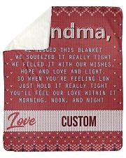 LOVE GRANDMA CUSTOM NAME Sherpa Fleece Blanket tile