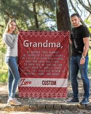 """LOVE GRANDMA CUSTOM NAME Quilt 40""""x50"""" - Baby aos-quilt-40x50-lifestyle-front-03"""