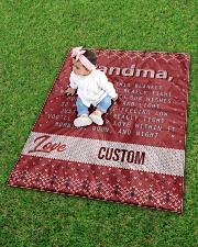 """LOVE GRANDMA CUSTOM NAME Quilt 40""""x50"""" - Baby aos-quilt-40x50-lifestyle-front-09"""