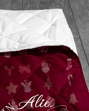 """CUSTOM FAMILY NAME - XMAS 2020 -1 Quilt 40""""x50"""" - Baby aos-quilt-40x50-lifestyle-closeup-front-07"""